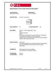 Product Data Sheet - 680M32 32 Amp 1 Way Switch, 13051 - Clipsal