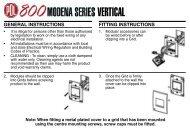 Installation Instructions - Modena 800 Vertical (464 KB) - Clipsal