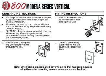installation instructions modena 800 vertical 464 kb clipsal clipsal dimmer wiring diagram library of wiring diagram intellibus dimmer wiring diagram at edmiracle.co