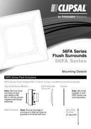 Installation Instructions - F062/04 - 56FA Series Flush ... - Clipsal