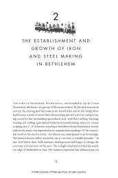 the establishment and growth of iron and steel making in bethlehem