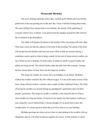 essay template short form urban dreams essay 2 memorable birthday urban dreams