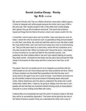 social justice essay on tayo by m a the urban dreams social justice essay rocky by r g 11 27 01 urban dreams