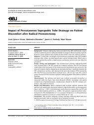 Impact of Percutaneous Suprapubic Tube Drainage on ... - Urosource