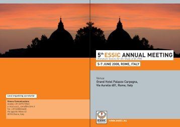 5th ESSIC ANNUAL MEETING 5-7 JUNE 2008, ROME ... - Urosource