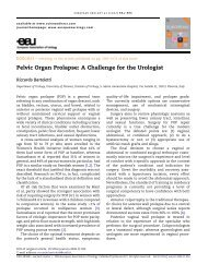 Pelvic Organ Prolapse: A Challenge for the Urologist - Urosource