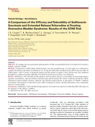 A Comparison of the Efficacy and Tolerability of ... - Urosource