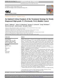 An Updated Critical Analysis of the Treatment Strategy ... - Urosource