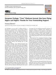 European Urology, ''Your'' Platinum Journal, Has been ... - Urosource