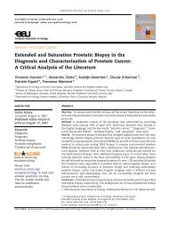Extended and Saturation Prostatic Biopsy in the Diagnosis - Urosource