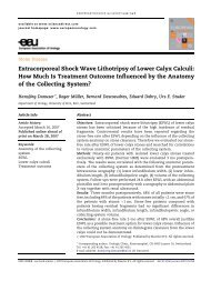 Extracorporeal Shock Wave Lithotripsy of Lower Calyx ... - Urosource