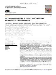 (EAU) Guidelines Methodology: A Critical Evaluation - Urosource