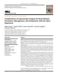 Complications of Laparoscopic Surgery for Renal Masses - Urosource