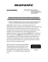 SR5006 For Immediate Release Press Contact: Brian ... - Marantz