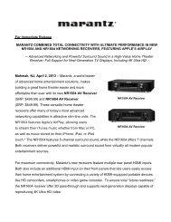 full line catalog 2006 - Marantz
