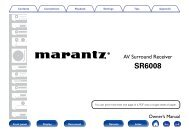 Owner's Manual in English - Marantz US | Home