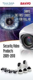 Security Video Products 2009-2010 - Sanyo