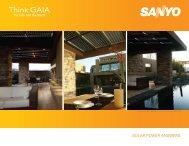 SOLAR POWER ANSWERS - Sanyo