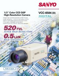 """VCC-6584 1/3"""" Color CCD DSP High-Resolution Camera - Sanyo"""