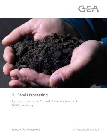 GEA Westfalia Separator Oil Sands Processing brochure