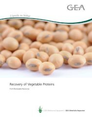 Recovery of Vegetable Proteins brochure - GEA Westfalia Separator