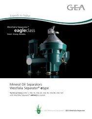 Mineral Oil Separators Westfalia Separator® etype brochure