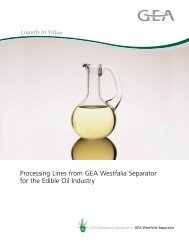 Processing Lines from GEA Westfalia Separator for the Edible Oil ...