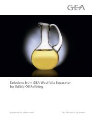Solutions for Edible Oil Refining brochure - GEA Westfalia Separator