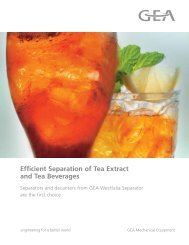 Efficient Separation of Tea Extract and Tea Beverages brochure