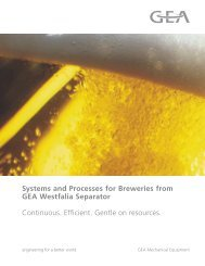 Systems and Processes for Brewers Brochure - GEA Westfalia ...