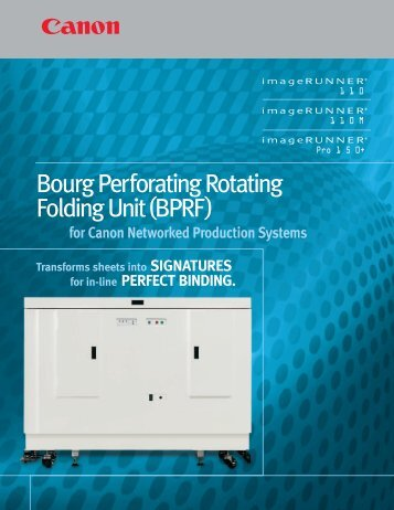 Bourg Perforating Rotating Folding Unit(BPRF) - Canon USA, Inc.
