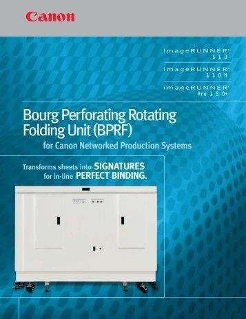 Bourg Perforating Rotating Folding Unit(BPRF) - Canon USA, Inc.