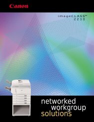 networked workgroup solutions - Canon USA, Inc.