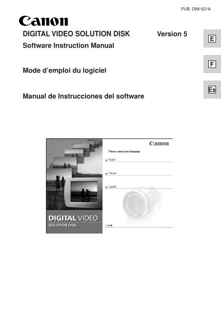 eos digital solution disk and instruction manuals