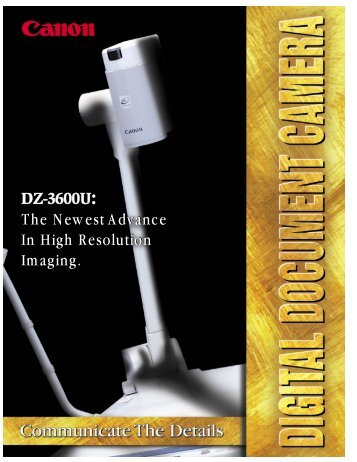 DZ-3600 - Canon USA, Inc.