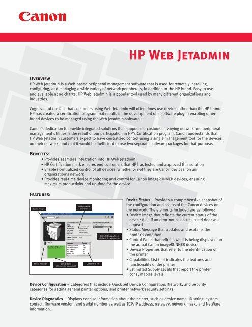 How to add printer in hp web jetadmin