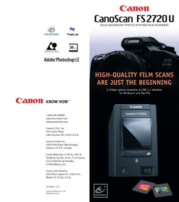 high-quality film scans are just the beginning - Canon USA, Inc.