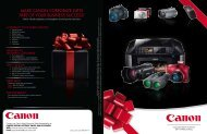 mAke CAnOn CORPORAte giftS PARt Of YOuR ... - Canon USA, Inc.