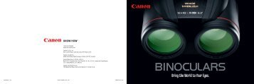 Bring the World to Your Eyes. G - Canon USA, Inc.