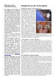 Newsletter Seiten 3-4 - Arche Deutschland