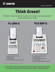 Think Green! - Canon USA, Inc.