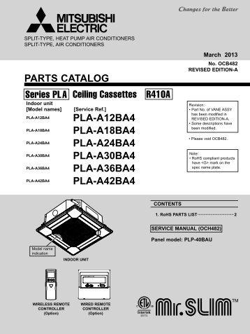 pca a42ka5 th parts mylinkdrive rh yumpu com mitsubishi puz-a18nha4 manual