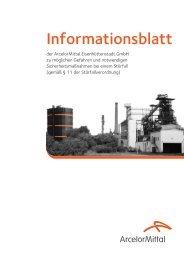 110 Feuerwehr: 112 Rettungsdienst - Arcelormittal Eisenhüttenstadt ...