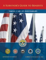 A Survivor's Guide to Benefits - Military OneSource