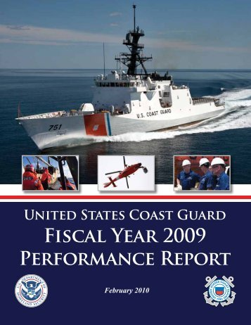 Performance Report Fiscal Year 2009 - U.S. Coast Guard