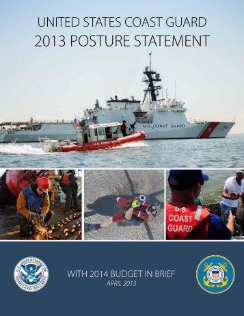 2013 PoSTUre STATeMeNT - U.S. Coast Guard