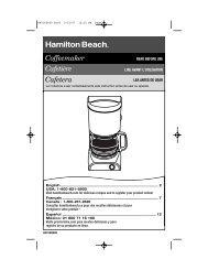 Coffeemaker Cafetière Cafetera - Hamilton Beach