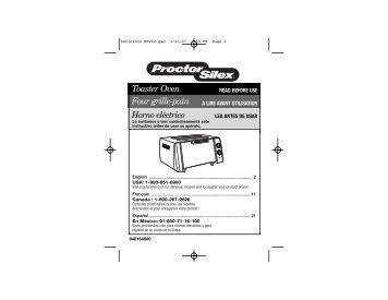 Toaster Oven Four grille-pain Horno eléctrico - Hamilton Beach