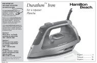 How to Steam Iron - Hamilton Beach