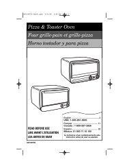 Pizza & Toaster Oven Four grille-pain et grille ... - Hamilton Beach